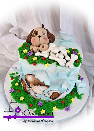 Little puppy... - Cake by Radmila