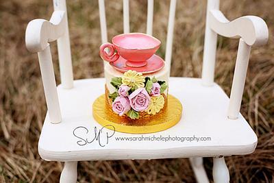 Tea for One - Cake by Joy Thompson at Sweet Treats by Joy