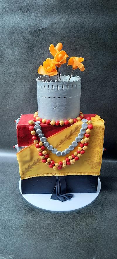 Khasi Tribal traditional women attire  - Cake by Amys bayked bouquett