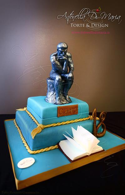 The Thinker - Cake by Antonella Di Maria