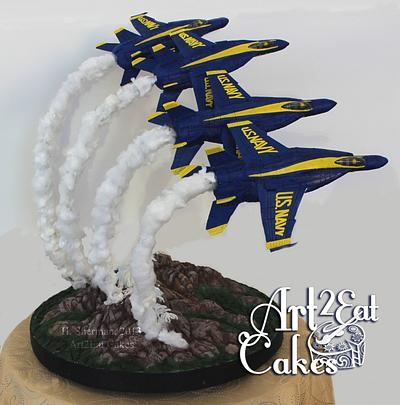 Blue Angels Over the Rockies - Cake by Heather -Art2Eat Cakes- Sherman