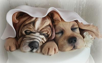 Little dogs... - Cake by Cristina Sbuelz