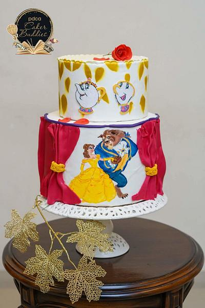 Caker Buddies Collaboration - Children's Bedtime Stories : Beauty and The Beast - Cake by deliciousventures