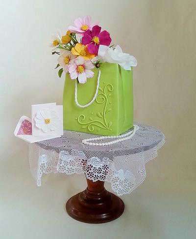 Gift Bag Cake - Cake by Jeanne Winslow