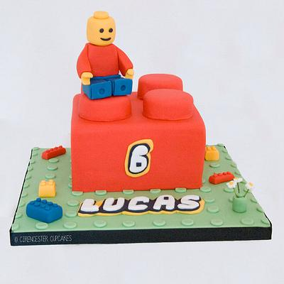 Lucas' Lego Brick Birthday Cake - Cake by Happy_Food