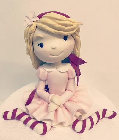 little girl - Cake by Jolanta Nowocin
