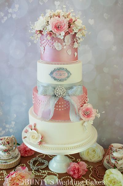 Pink Shimmer - Cake by Bunty's Wedding Cakes