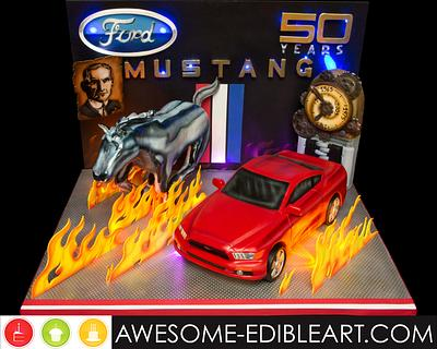 Ford Mustang 50th Anniversary Collaboration - Cake by Andres Enciso
