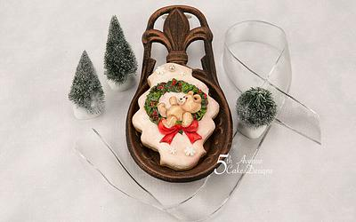 Swinging on a Wreath Cookie Art Lesson 🧸🍒🎀 - Cake by Bobbie