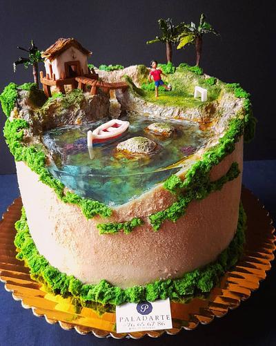 Soccer by the seacake - Cake by Paladarte El Salvador