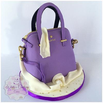 Purple Purse - Cake by Sabrina - White's Custom Cakes