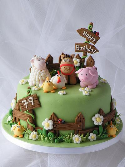 Farm Animals Cake - Cake by CakeHeaven by Marlene