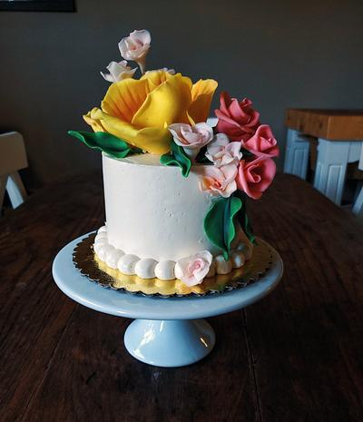Floral Birthday Cake - Cake by Sydney Megan Connor