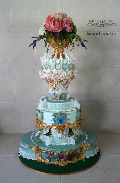 Emerald Opulence  - Cake by Karen Leong