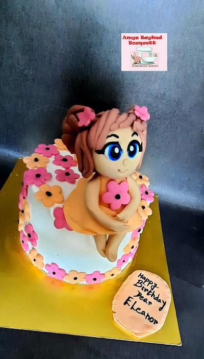 Girl Birthday cake   - Cake by Amys bayked bouquett