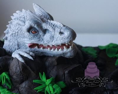 Solid Modeling Chocolate Indominus Rex birthday cake - Cake by Sonia Huebert