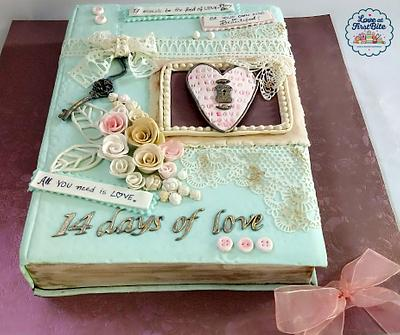 Caker buddies Valentine Collab- The book of love - Cake by soneeka