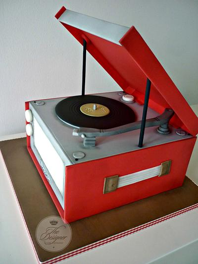 Dansette Record Player Birthday Cake - Cake by Isabelle Bambridge