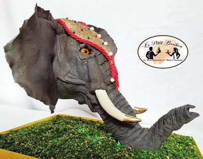 Anti- gravity Elephant cake- Sri Lanka Collaboration - Cake by LE PETIT BONBON