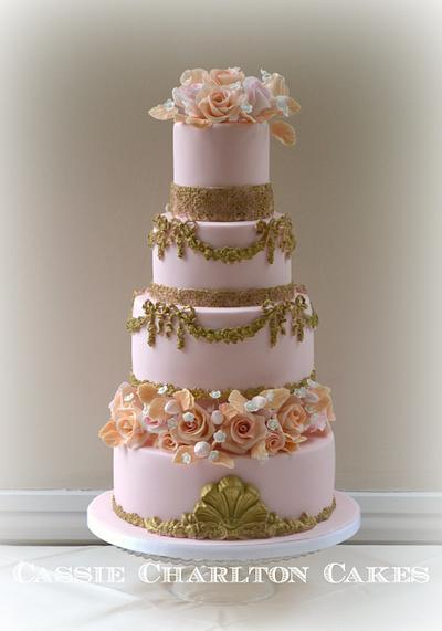 Baroque wedding cake - Cake by Cassie