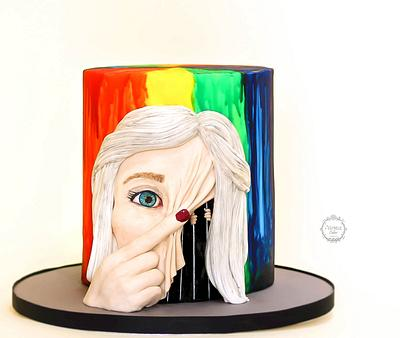 Between Minds Collaboration 'Hidden' - Cake by Estrele Cakes