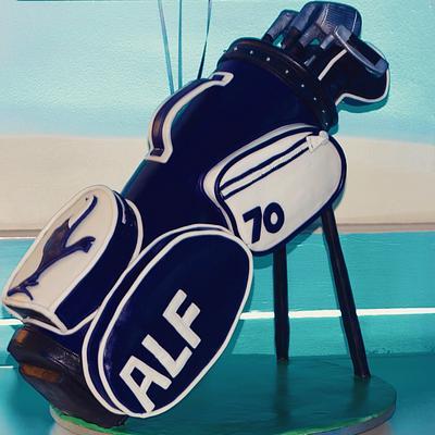 70th Birthday Golf Bag Cake - Cake by LittleJakesCakes