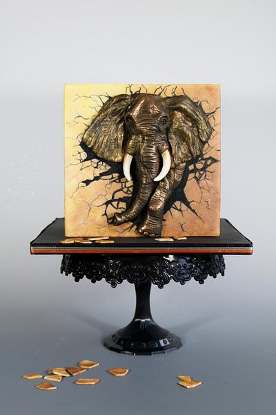 Elephant - Cake by tomima
