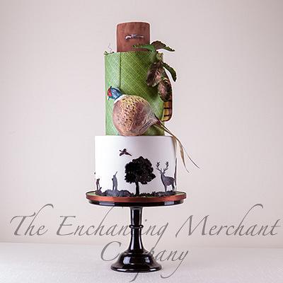 Pheasant Hunting theme cake - Cake by Enchanting Merchant Company