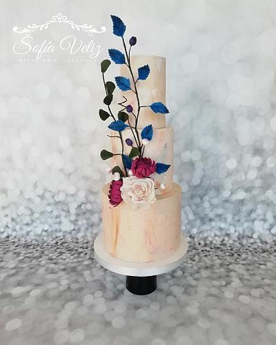 Delicate Rock of Love - Cake by Sofia veliz