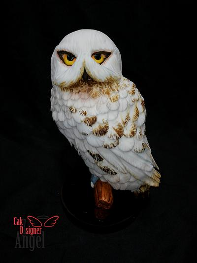Hedwig of Harry Potter - Cake by Angel Torres