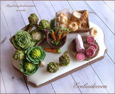 Food miniature - Cake by Evelindecora