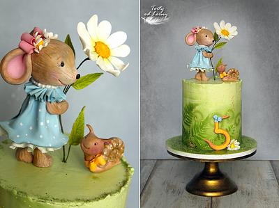 Mouse and snail  - Cake by Lorna