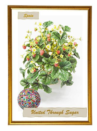 Wild Strawberries - United Through Sugar collaboration  - Cake by Catalina Anghel azúcar'arte