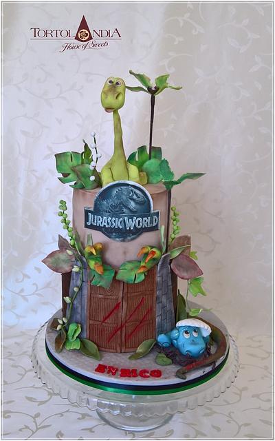 Dino cake & Jurassic World - Cake by Tortolandia