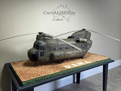 Huge Chinook helicopter cake - Cake by CuriAUSSIEty  Cakes