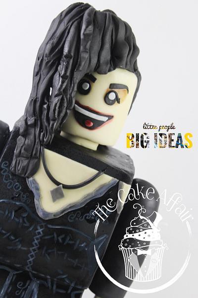 Bellatrix LEGO mini figure Cake. 'little people BIG IDEAS' collaboration  - Cake by Designer Cakes By Timilehin