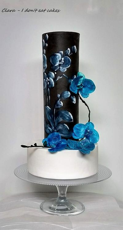 Blue orchids cake - Cake by Clara