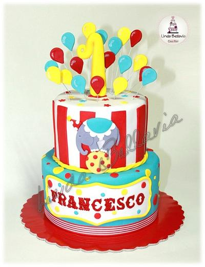 FIRST BIRTHDAY AT THE CIRCUS - Cake by Linda Bellavia Cake Art