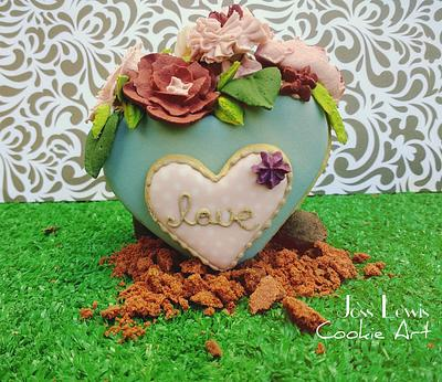 3-D cookie project: Shabby Chic Flowerpots  - Cake by Cookies by Joss