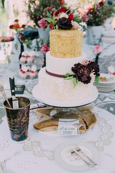 """Sequins & Ruffles"" - Cake by Betty's Bakery (molecular sensations)"