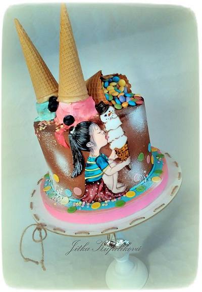 Holčička má ráda zmrzlinu - Cake by Jitka