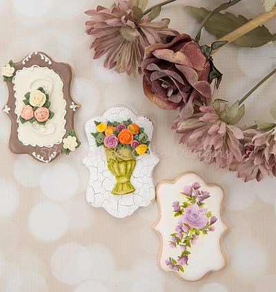 Autumn Floral Spray Cookies 🌼🌹🍂 - Cake by Bobbie