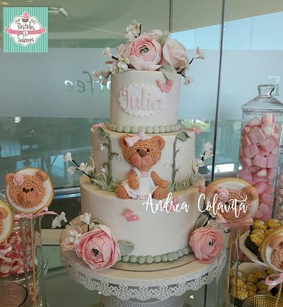 Bear cake for baby girl - Cake by Andrea Colavita