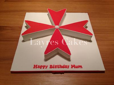 Maltese Cross Cake - Cake by Layres Cakes