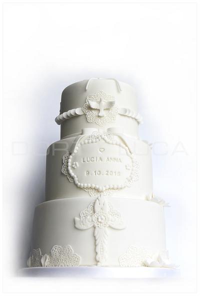christening on white - Cake by Dorty LuCa