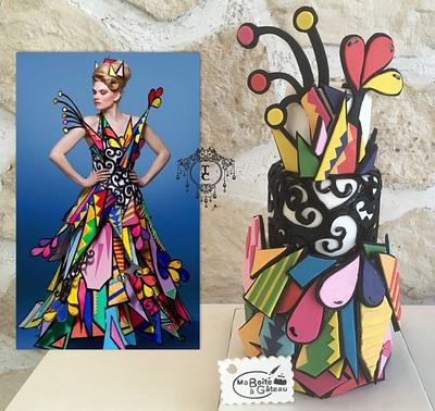 Couture Cakers International 2018 collaboration : Colors  - Cake by Alexandra Smadja (Ma Boîte à Gâteau)