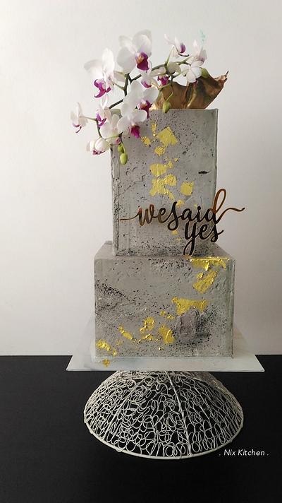 Concrete Wedding Cake - Cake by Nikita Mahmood