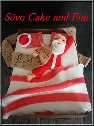 Père Noël zzz - Cake by Séverine