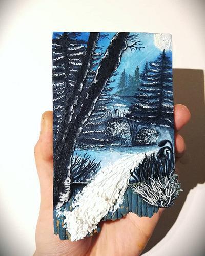 Icy Woods [Cookie Art] - Cake by Cookies by Joss