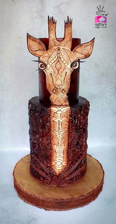 Doodled Giraffe - Jirafas The Challenge - Cake by Chanda Rozario
